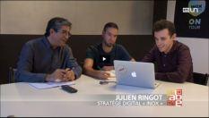 Julien Ringot on the TV program A Bon Entendeur on RT1